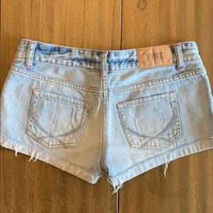 PINK Victoria's Secret Distressed Jean Shorts 2